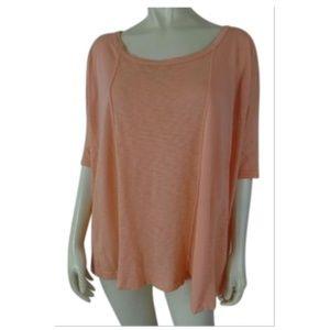 Splendid Shirt Top S Sheer Stretch Knit Pullover
